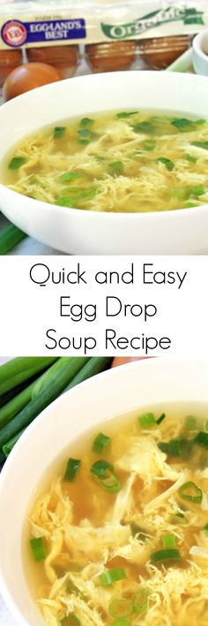 Quick and Easy Egg Drop Soup Recipe