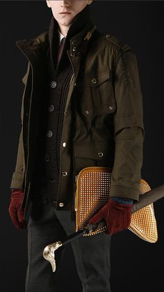 Burberry - WAXED COTTON FIELD JACKET. Hnnng