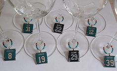 San Jose Sharks Wine Charm Set... cute!