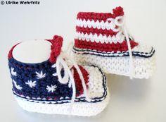 Strick- & Häkelschuhe - Babyschuhe Babyturnschuhe Sneaker strickliene - ein Designerstück von strickliene bei DaWanda