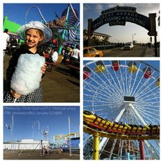 Santa Monica Pier Family Vacation Collage things to do with kids in Santa Monica