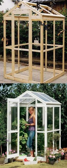 42 BEST tutorials on how to build amazing DIY greenhouses , simple cold frames and cost-effective hoop house even when you have a small budget and little carpentry skills! Everyone can have a productive winter garden and year round harvest! A Piece Of Rainbow #greenhouseeffect