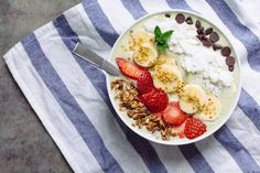 Banana Blast Smoothie Bowl From The Society | Nutrition Stripped