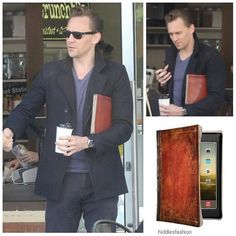 He's got great taste in accessories! Tom Hiddleston at a coffee shop in Australia (September 11 carrying his case by that he's had since The is still available for most Apple products at various prices Mighty Ape, Apple Products, Tom Hiddleston, Toms, Mac, Suit Jacket, September 11, Blazer, Coffee Shop