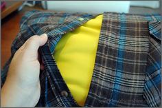 Sized Flannel Shirt Pillow