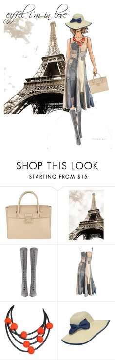 """eiffel i'm in love"" by oriza-int ❤ liked on Polyvore featuring Furla, Zimmermann, Ralph Lauren and WithChic"