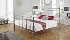 135cm Bedstead Ballito Bright Nickel  ***Not sure about the frame, I just like the bedknobs***