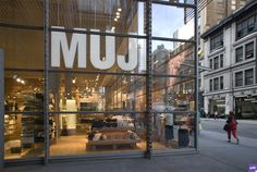 Muji's second store opened today at noon on the ground floor of the New York Times building on 40th and 8th Avenue in New York City. PSFK took a walk throu