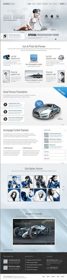 WordPress Template perfect for product or service presentation.