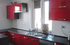 Meble kuchenne w czerwieni - Tarnów