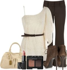"""""""Textured One Shoulder Belted Top"""" by cindycook10 on Polyvore"""
