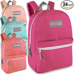043caa2af74 Wholesale Trailmaker Deluxe 17 Inch Backpack - Girls Case Pack 24 Review  Clear Backpacks