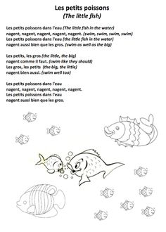 J ai un poisson best french poems and hand games ideas for Little fish song