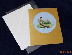 Gold castle blank greeting card by LittleInsect on Etsy £0.99