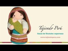 ▶ Virgen María y Niño Jesús tejidos a crochet (amigurumi) - YouTube