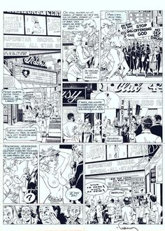 Original Comics illustration, Napoleon Gallery : LARGO WINCH - LARGO WINCH Issue 3 original comic page 26 - 26