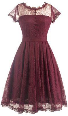 Retro Lanciness Back V Dress