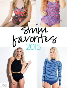 Love all these modest swimsuits!