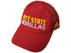 33ed9728a18f1 PITT STATE GORILLAS SCTACK ADIDAS ADJUSTABLE SLOUCH HAT - RED Fan Gear