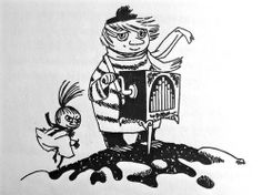 Too-Ticky - from the Moomin books by Tove Jansson Moomin Tattoo, Moomin Books, Children's Book Characters, Moomin Valley, Tove Jansson, Little My, Graphic Illustration, Character Design, Artsy