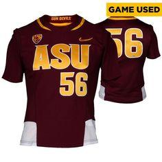 84f829802 Arizona State Sun Devils Fanatics Authentic Game-Used Maroon ASU V-Neck  56  Softball Jersey used during the 2014-2015 Season - Size Medium