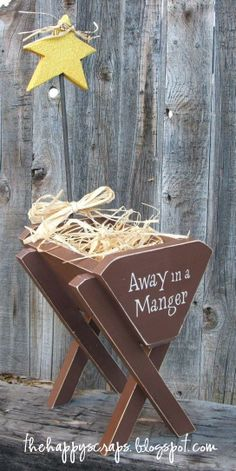 Away in a Manger #Christmas #thehappyscraps #thewoodconnection