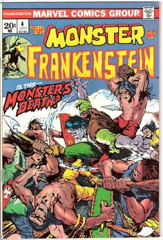 Frankenstein 4 Marvel Comics Ploog The Monster Tales of Horror Fear Terror Scary Creepy Nightmare 1973 VF+ by LifeofComics #halloween #comicbook