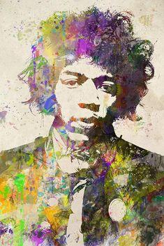 Jimi Hendrix Poster, Jimi Hendrix Gift, Jimi Hendrix Colorful Layered – McQDesign