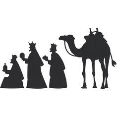 Silhouette Design Store - View Design #1540: Nativity Wisemen