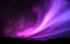 Northern lights, aurora.
