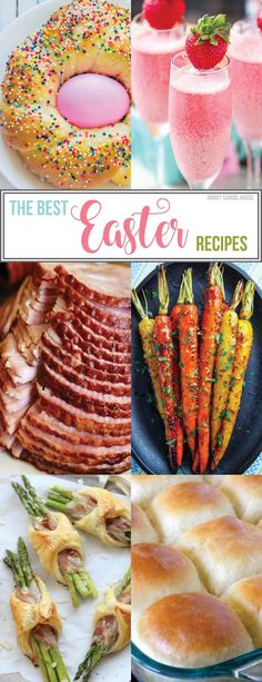 The Best Easter Recipes - Find the perfect recipes for a bea.- The Best Easter Recipes – Find the perfect recipes for a beautiful Easter brunch and Easter dinner, including glazed ham and cute Easter desserts. Cute Easter Desserts, Easter Dinner Recipes, Easter Treats, Holiday Recipes, Easter Food, Easter Meal Ideas, Easter Ham, Easter Party, Easter Recipes For Two
