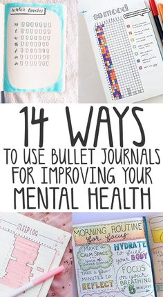 Bullet Journaling For Mental Health & Anxiety - Mental Health Tips health journal health day health wellness Bullet Journal Tracker, Bullet Journal Inspo, Bullet Journal Printables, Bullet Journal How To Start A, Keeping A Journal, Bullet Journal Layout, Bullet Journals, Daily Journal, Fitness Journal