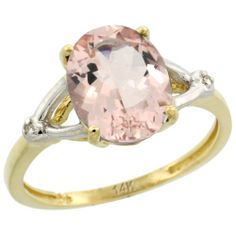 14k Yellow Gold Natural Morganite Ring Oval 8x10 mm 2.4 ct Diamond Accent, 3/8 inch wide, size 6 Gabriella Gold,http://www.amazon.com/dp/B004YES0NC/ref=cm_sw_r_pi_dp_SCx1sb0942SSJPDW