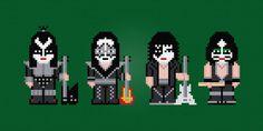 Kiss Rock Band Digital PDF Cross Stitch by AmazingCrossStitch