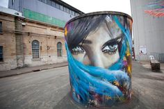 By Matt Adnate in Sydney, Cockatoo Island.