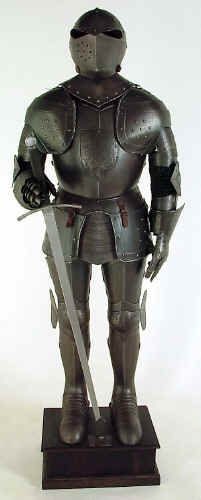 Wearable Medieval Armour Costume Black Knight Suit of Armor