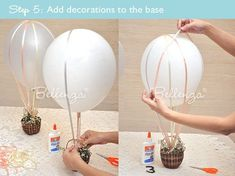 How to Make a Hot Air Balloon Centerpiece for wizard of oz party
