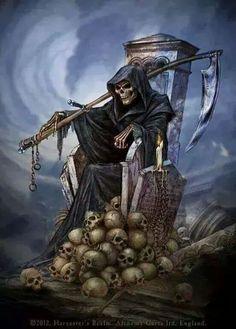 Kingko® Women's Trendy Black Lace Choker Necklace Set Stretch Classic Gothic Tattoo Retro Jewelry PCS) Death Reaper, Grim Reaper Art, Don't Fear The Reaper, Gothic Images, Gothic Art, Totenkopf Tattoos, Reaper Tattoo, Dark Artwork, Skull Wallpaper