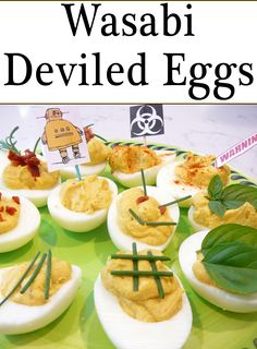 Wasabi Deviled Eggs are like Buffalo Wings, you can make them as wimpy ...