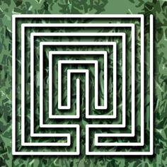 Labyrinth 1 - Mow your lawn with left turns 20, right turns 18 for the classic labyrinth pattern.