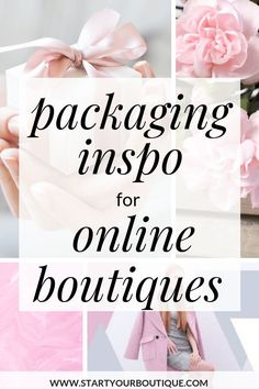 Already have an online boutique or want to start an online boutique? Click through for some packaging ideas for your online boutique. Everything from custom tape, custom poly mailers and custom stickers. Get inspired with these online boutique packaging i Boutique Names, Boutique Etsy, Boutique Ideas, Luxe Boutique, Boutique Interior, Kids Boutique, Boutique Stores, Boutique Design, Fashion Boutique