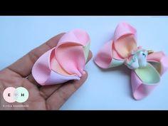 Burlap Bow Tutorial, Hair Bow Tutorial, Flower Tutorial, Headband Tutorial, Diy Headband, Ribbon Hair Bows, Diy Hair Bows, Ribbon Flower, Fabric Flowers