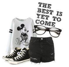 """""""THE BEST IS YET TO COME"""" by annieanne-tumblr13 ❤ liked on Polyvore featuring Topshop and Converse"""