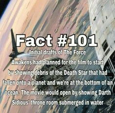 initial drafts tfa the force awakens death star destroyed fallen underwater submerged throne room palpatine Star Wars Facts, Star Wars Humor, Reylo, Weird Facts, Fun Facts, Star Wars Love, Star Wars Images, Marvel Films, Best Start