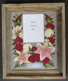 Funeral Flowers Pressed by Pressed Garden, Floral Preservation ~ Annie Smith ~ www.pressedgarden.com