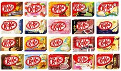 So many flavors of Kit Kats.. I definitely miss Japan for this!