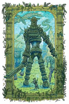 Shadow of the Colossus by Scott A Ford : gaming Fantasy Comics, Colossus, Game Art, Pixel Art, Illustration, Dark Fantasy, Shadow Of The Colossus, Zelda Art, Art