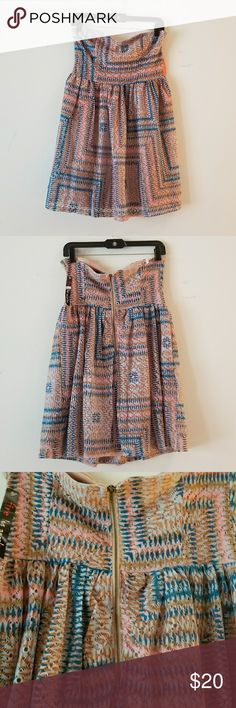 Fire Los Angeles Strapless Dress Fire Los Angeles Strapless Dress  Multicolored  Large Fire Los Angeles Dresses Strapless