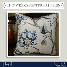 We're featuring florals as our design collection of the week. Think that's beautiful? Check out the rest of our floral collection: http://pillowsanddecor.com/collections/florals