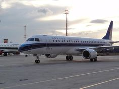 a China Southern Airlines #Embraer E190 is seen after exiting the final assembly line by usatoday.com
